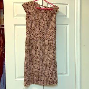 Calvin Klein brown sheath dress